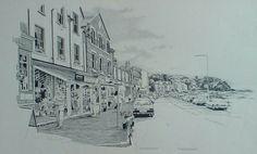 Arnside, English Lake District, original drawing by Karl Stedman, kstedmanart@aol.com