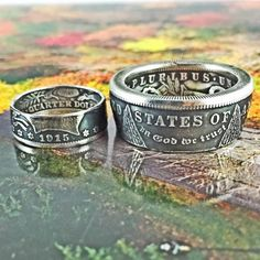 Coin Ring - Morgan Silver Dollar - Late 1800's to early 1900's Coin. Size 11.5 - 16 Wear a piece of history. These rings make a great birthday gift, conversation piece, gif