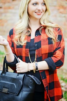 """Styling Red Buffalo Plaid in a """"girly"""" alternative rather than """"grunge/rock"""" on The Modern Tulip"""