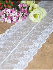 30cmx275cm+Natural+Vintage+Burlap+Lace+Hessian+Table+Runner+Wedding+Party+Decoration+Jute+Table+Runners+–+USD+$+18.00