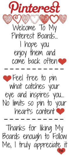 """Welcome to my Pinterest Boards. I love to pin & I love to share! Join our group """"No Pin Limits"""" if you agree! www.pinterest.com/pinbycolor/no-pin-limits"""