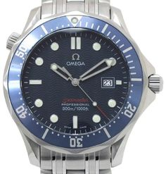 d8b9f9ac45f Omega Seamaster 2221.80 Stainless Steel Quartz 41mm Men s Watch Relógios De  Segunda Mão