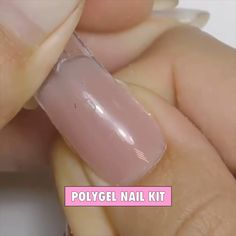 PolyGel Nail Kit - PolyGel Nail Kit Best Trendy Deal Nails PolyGel is an all-in-one formula to get salon quality nails right at home. No monomer, no mixing, and no ratios! The odorless formula allows you to get your nai - - Tips and İdeas - Ten Nails, Polygel Nails, Hair And Nails, Manicure At Home, Manicure And Pedicure, Cute Acrylic Nails, Chrome Nails, Stylish Nails, Nagel Gel