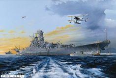 japanese military art   pack of Japanese WW2 naval prints by Randall Wilson. - Battleships ...