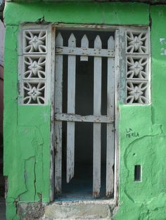 colorful doorway.