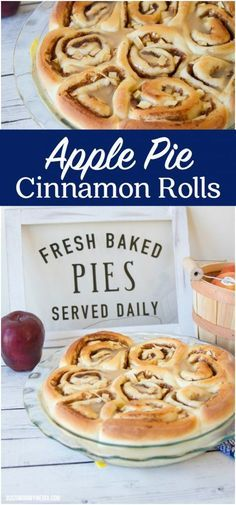 Apple Pie Cinnamon Roll | This is the ultimate fall treat! These homemade cinnamon rolls taste like a combination of apple pie and your favorite breakfast treat.