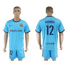 2017-18 Football Kit Barcelona Away 12 Rafinha Football Shirt. Barcelona  Football KitFc BarcelonaKids Football KitsSoccer ... 7e6559447e175