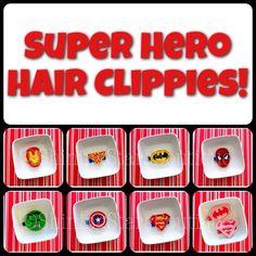 Fun superhero clippies for girls from Shining Stars Boutique on Etsy! #superheroes #superhero #hairbows #hairclips #captainamerica #hulk #spiderman #superman #batman #wonderwoman #ironman #clippies #bows #hairaccessories