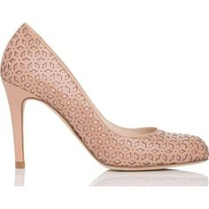 L.K. BENNETT laser-cut flower pattern heel found at Nudevotion.com