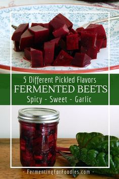 Fermented Beets - With Five Different Flavours - Fermenting for Foodies Learn how to make pickled and fermented beets. These pickled beets are deliciously tangy. Try all 5 different flavour options. Beet Recipes, Healthy Recipes, Smoothie Recipes, Healthy Food, Fermentation Recipes, Canning Recipes, Ginger Ale, Kombucha Tee, Pickled Beets Recipe