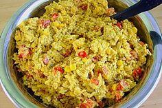 Curry-Reissalat mit Mais und Paprika 1