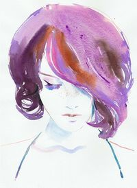 Watercolor Fashion Illustration - Violaa I want this framed on my wall! Watercolor Fashion, Watercolor And Ink, Watercolor Illustration, Watercolour Hair, Watercolor Ideas, Watercolor Portraits, Watercolor Paintings, Watercolours, Art Prints Quotes