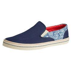 Blaue #Slipper mit #Muster ab 20,00€ ♥ Hier kaufen:  http://www.stylefru.it/s712436 #schuhe
