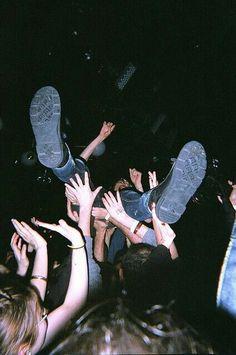 ~~ crowd surfin
