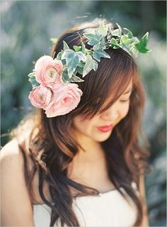 floral headpiece , good for brides & flower girls. Floral hair crown