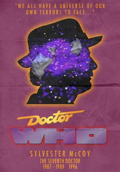 11 Psychedelically Minimalist Posters to Celebrate 50 Years of Doctor Who Doctor Who Books, All Doctor Who, First Doctor, Doctor Who Convention, Sylvester Mccoy, Watch Doctor, Science Fiction Series, Bbc Tv Series, Dalek