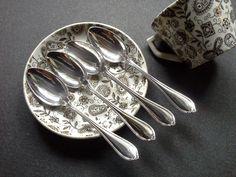 Four Alvin Sterling Silver Demitasse Spoons 1907  by queenofsienna, $80.00