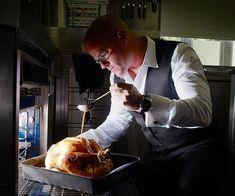 Australian Gourmet Traveller recipe for Heston Blumenthal's roast turkey. Christmas Roast, Xmas, Roast Turkey Recipes, Heston Blumenthal, Herb Butter, Big Meals, Cooking Turkey, Roasted Turkey, Chef Recipes