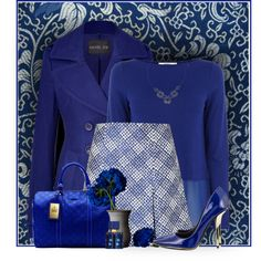 Royal Blue by daiscat on Polyvore featuring moda, Oasis, Rachel Zoe, Ostwald Helgason, Privileged, Dorothy Perkins and Gucci