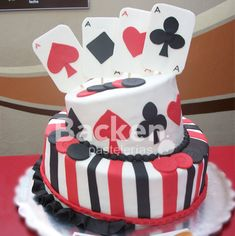Poker Cake ! I'm doing this for JD's Birthday