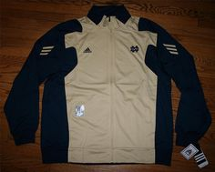 New NOTRE DAME IRISH ADIDAS Climalite Scorch TRACK JACKET-L-basketball/FREE SHIP