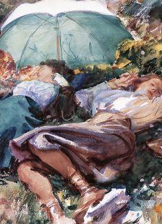 John Singer Sargent, A Siesta (detail), 1907
