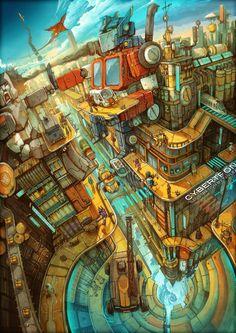 Transformers by Zhichao Cai, via Behance