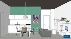Interni funzionali e contemporanei per i mini appartamenti di un residence in città. Per il nostro progetto abbiamo scelto elementi d'arredo moderni e funzionali e accenti di colore a contrasto con i toni grigi di pavimento e pareti.
