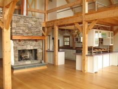 Interior Design Natural Interior Design Of The Metal Barn Converted In Homes That Has Wooden Floor And Also Natural Fireplace Mantle That Can Add The Beauty Inside Modern Nice Photos Of Metal Barns Converted In Homes