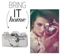 """""""Bring It Home: Camera Decor"""" by polyvore-editorial ❤ liked on Polyvore featuring interior, interiors, interior design, home, home decor, interior decorating, Dot & Bo and bringithome"""
