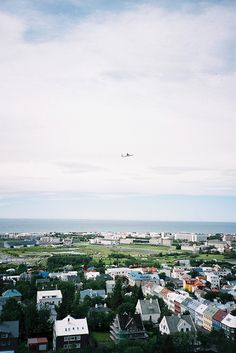 Reykjavik, Iceland. This is really what the city looks like. Hardly any tall buildings, no mega shopping centres, very cool old world charm.