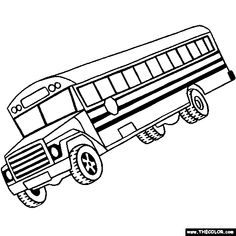 School Bus Coloring Page | Printables | Pinterest | School buses ...