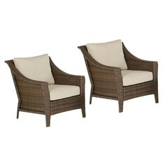 Club chairs for deck? Target Home™ Rolston 2-Piece Wicker Patio Club Chair Set.Opens in a new window