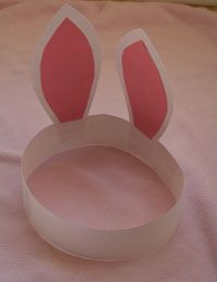 easter bunny ears. crafts for kids