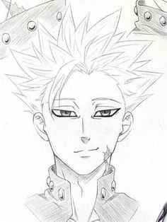 Ban is one of the best. - Ban is one of the best. Naruto Sketch Drawing, Anime Drawings Sketches, Anime Sketch, Kawaii Drawings, Cute Drawings, Drawings For Boys, Anime Chibi, Kawaii Anime, Otaku Anime