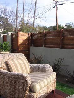 Horizontal Fence & Lattice Top - san diego - by Argia Designs Landscape Design & Consultation