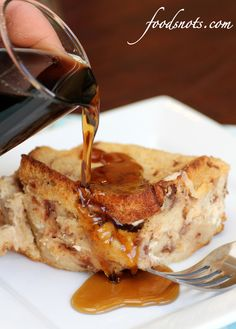 Overnight stuffed french toast - this looks so yummy!!!!  Gotta try this.