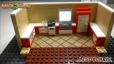 How To Make A LEGO Slanted Tile Floor Effect by LEGO4Chris.   Great idea!