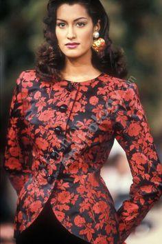 Yasmeen Ghauri for YSL Runaway Show