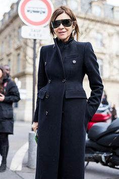 Carine Roitfeld is seen in the streets of Paris before the Issey Miyake show during Paris Fashion Week Womenswear Fall/Winter 2017/2018 on March 3...