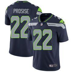 Nike Seahawks #22 C. J. Prosise Steel Blue Team Color Men's Stitched NFL Vapor Untouchable Limited Jersey