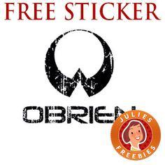 Free O'Brien Sticker