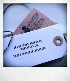 DIY Luggage tag business cards by Decorator's Notebook blog