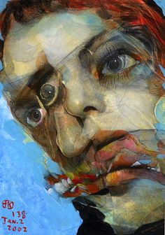"""Takahiro Kimura - The project broken faces"""" Abstract Faces, Abstract Art, Elephant Man, Modern Art, Contemporary Art, Collage Artists, Portrait Art, Portraits, Illustrations"""