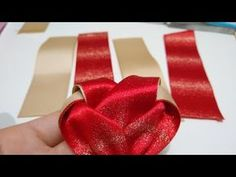 Diy Lace Ribbon Flowers, Tissue Paper Flowers, Kanzashi Flowers, Diy Ribbon, Diy Hair Bows, Diy Bow, Bow Template, How To Make Ribbon, Bow Tutorial