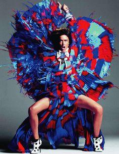 Raquel Zimmermann for Vogue Paris, November 2011.  Photographed by Inez van Lamsweerde and Vinoodh Matadin.