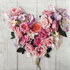 christenings 33cm x 33cm Ideal for weddings 20 3 PLY PINK /& GREEN ROSE PETAL LEAF PATTERN PAPER NAPKINS bbqs etc parties