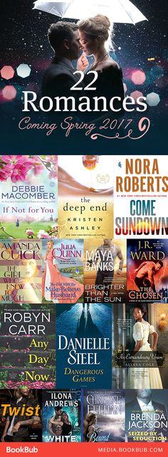 22 romance books worth reading this spring. Including a mix of hot paranormal romances and steamy historical romances.