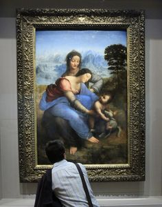 """Wanna know why this da Vinci is controversial... """"The Virgin and Child with Saint Anne"""""""