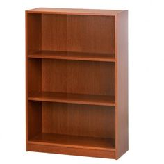 Cherry Wood Bookcase Furnishing - Every office need a place to store books and display other items in classic style. Be sure your home office includes a timeless bookcase furnishing that looks great with any decor style. Bookshelf Makeover, 3 Shelf Bookcase, Wood Bookshelves, Wood Shelves, Display Shelves, Storage Shelves, Home Office Decor, House In The Woods, Adjustable Shelving